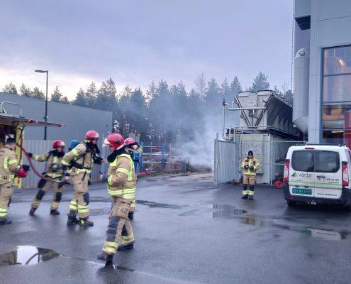 Øvelse med Ringerike brann og redningstjeneste